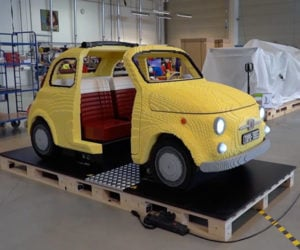 Fiat and LEGO Built a Life-size Fiat 500