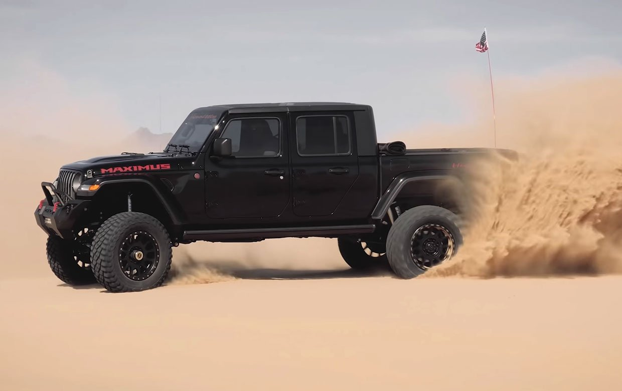 Watch Hennessey's Maximus 1000 Jeep Gladiator Tear Up the Desert