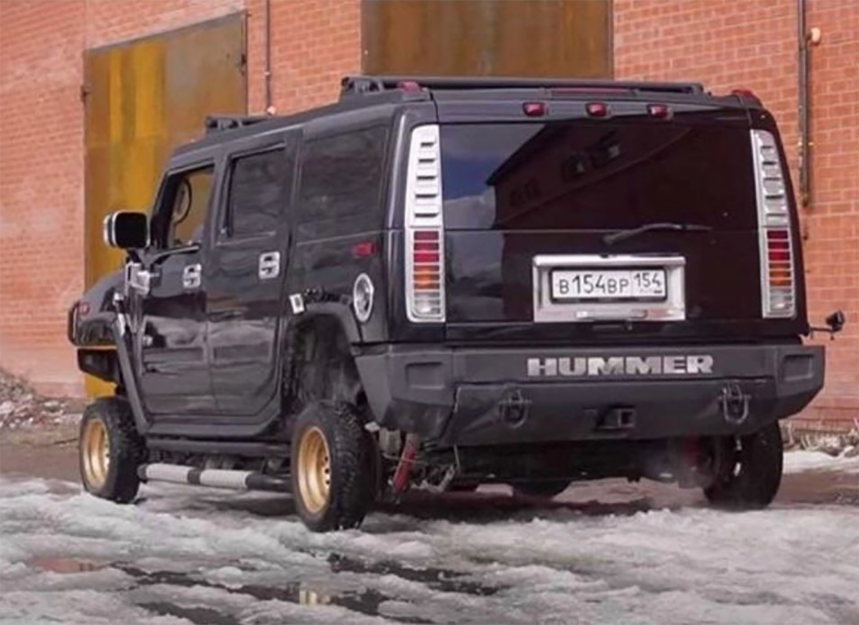 Putting 13-inch Rims on a Hummer H2 Looks as Stupid as It Sounds
