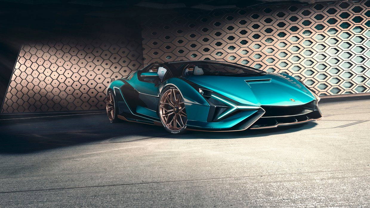 Lamborghini Sián Roadster Drops the Top and Keeps the V12