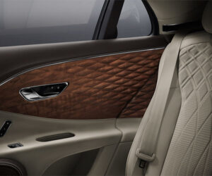 Bentley Flying Spur Gets Gorgeous Diamond Carved Wood Panels