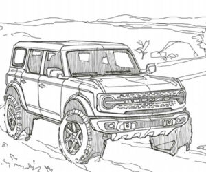 Get Your Colored Pencils Out for the New Ford Bronco