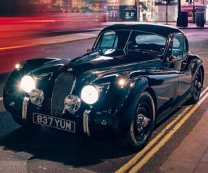 This Epic Jaguar XK120 is a 375 hp EV