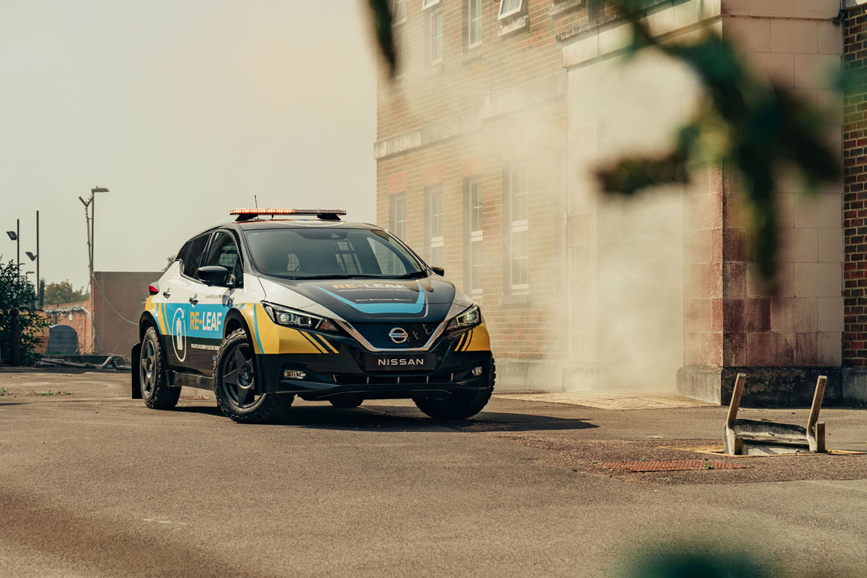 Nissan RE-LEAF EV is Designed to Provide Power in an Emergency