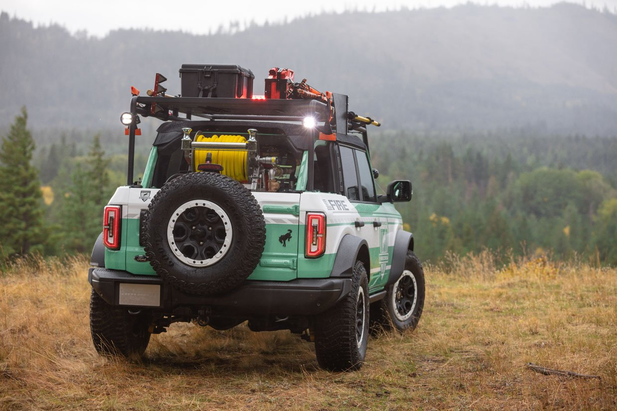 Ford + Filson Bronco Wildland Fire Rig Is Ready to Help Firefighters
