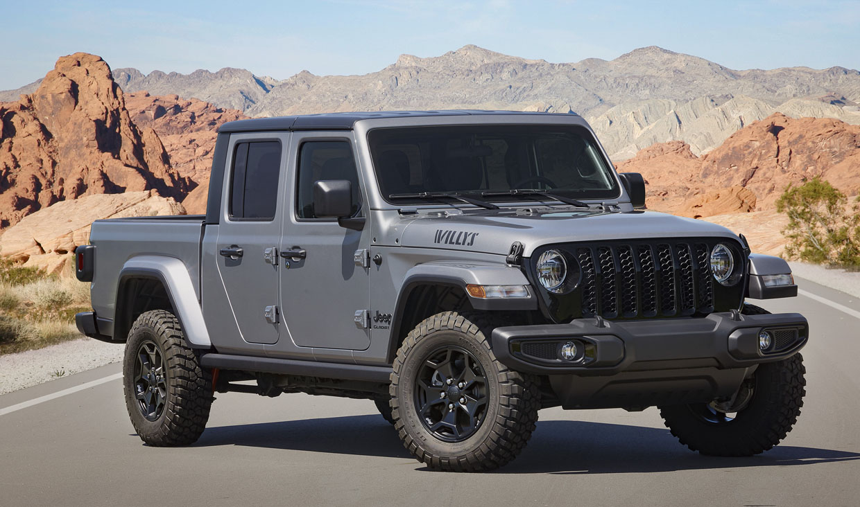 Jeep Gladiator Willys Trim Bows for 2021