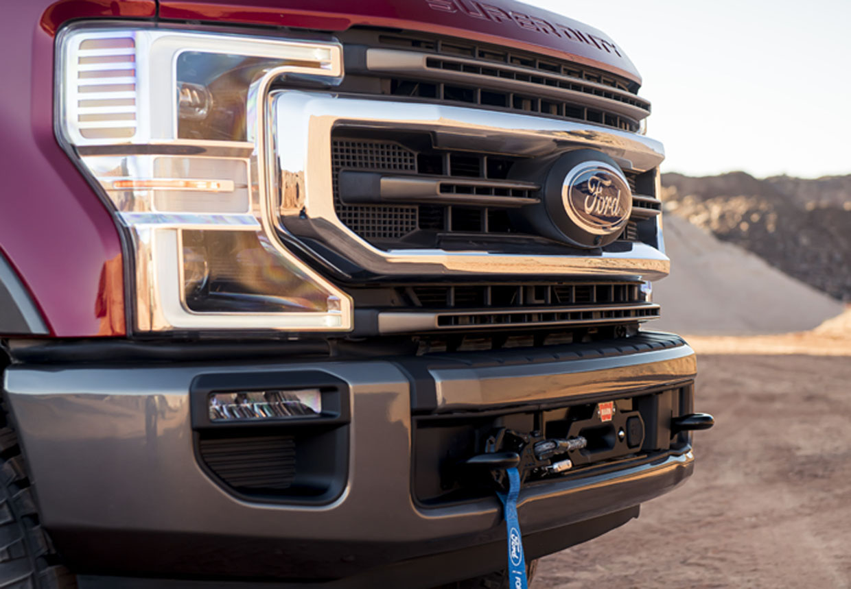 Ford Performance Parts Warn Winch Available for All 2020+ Super Duty Trucks