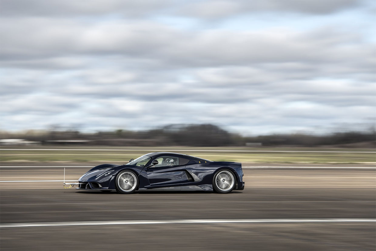 Hennessey Venom F5 Hits 200 mph in Testing with Only Half its Horsepower