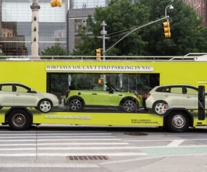 MINI Hitches a Ride on a Looking Glass Bus