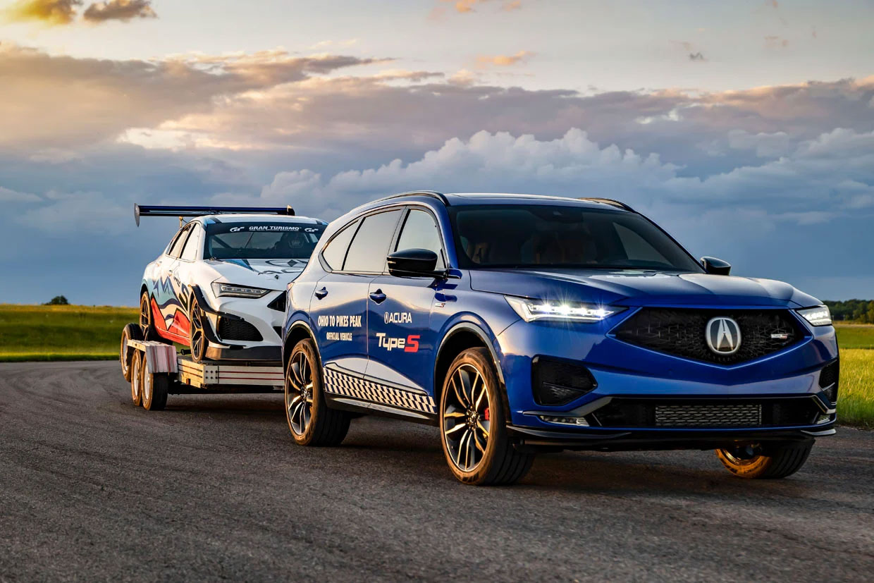 Acura Shows off 2022 MDX Type S as Tow Car for Pikes Peak Racers