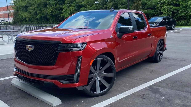 Custom Chevy Silverado Is Now an Escalade Pickup Truck