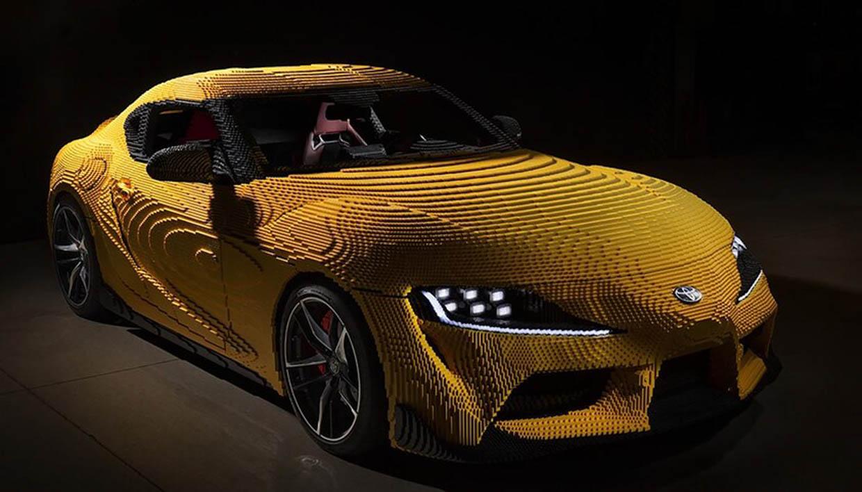 Life-size LEGO Toyota GR Supra Has Almost 500,000 Bricks