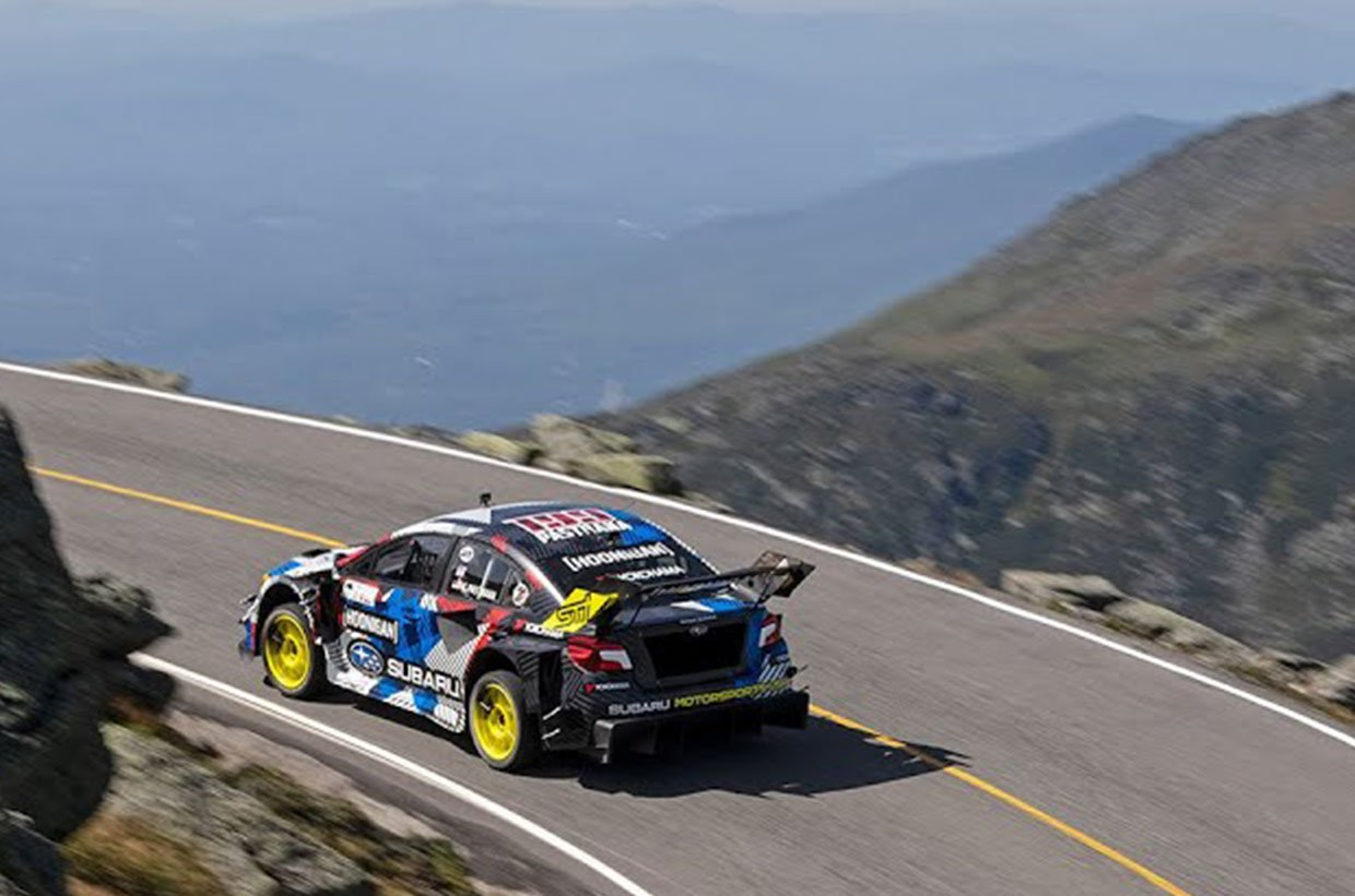Travis Pastrana Crushes the Mount Washington Hill Climb Record in His Tricked Out Subaru