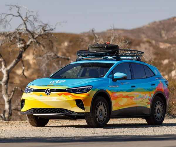 Volkswagen ID.4 AWD EV Racing in the Rebelle Rally