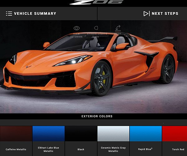 Corvette Z06 Configurator Lets You Make Your Dream Car, Even If You Can't Buy One