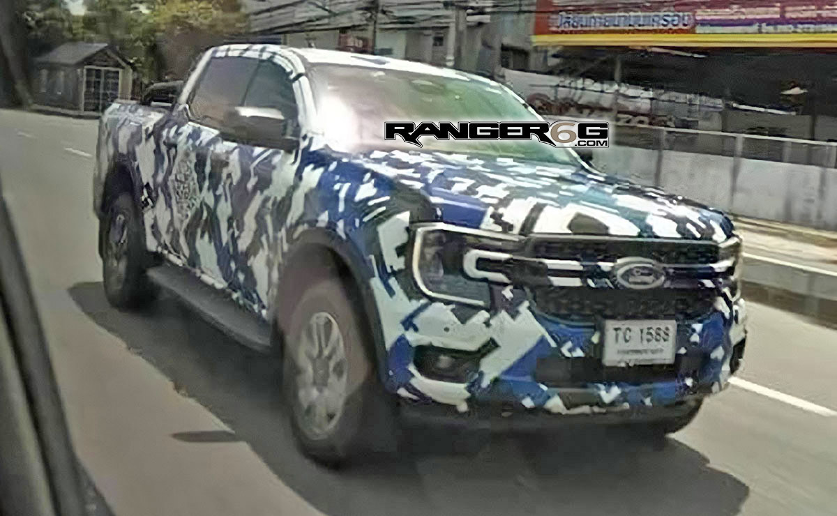 2023 Ford Ranger Caught Wearing Camo